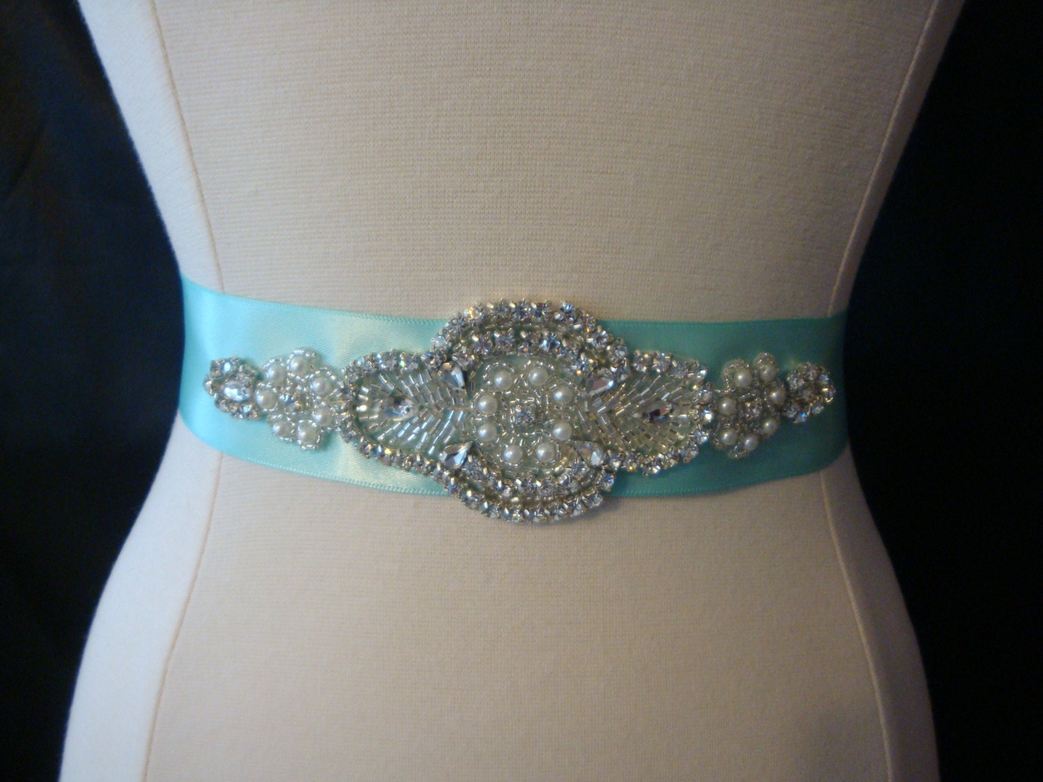 Blue Bridal Dresses Bridal Sash Aqa Blue Wedding
