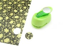 "1"" Circle Paper Punch - DIY Craft Cut Out Scrapbooking Custom Jewelry - 25mm - 1"" - Lime Green"