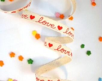 "Red Heart Love Ribbon - 3/8"" x 5 yards"