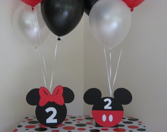 Minnie Mouse & Mickey Mouse Birthday Party Centerpiece Balloon Holders