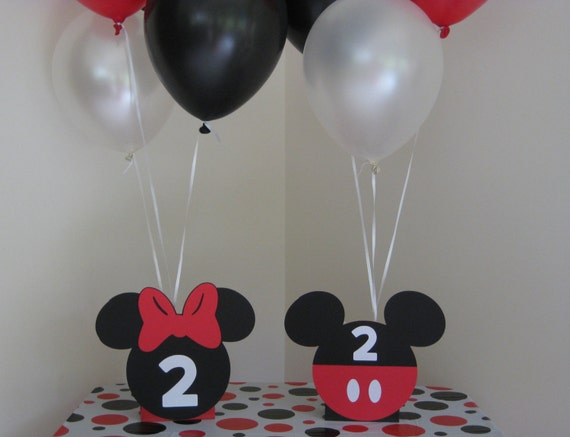 Minnie mouse mickey birthday party centerpiece balloon