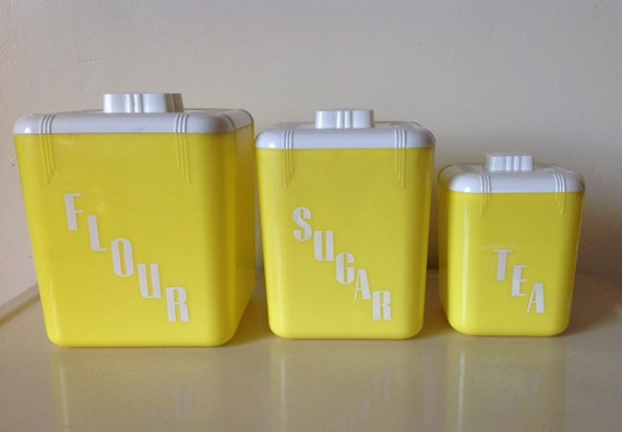 retro yellow kitchen canister set rona plastic corp