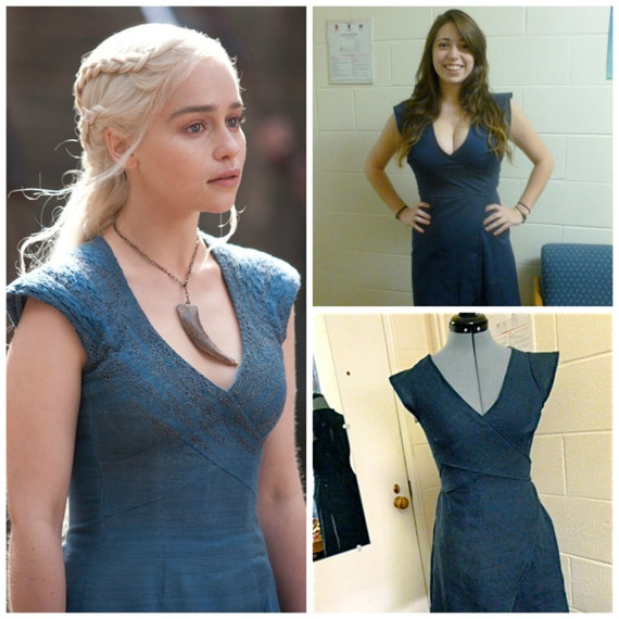 Game of Thrones Daenerys Targaryen Blue Wrap Dress Every