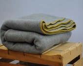 Vintage WOOL blanket  for cozy cold nights ....