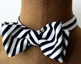 bow tie, men bow tie, bow, black, white, stripes