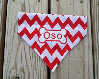 Chevron Personalized Dog Bandana Dog Collar Accessory