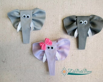 Elephant Ribbon Sculpture Hair Clip