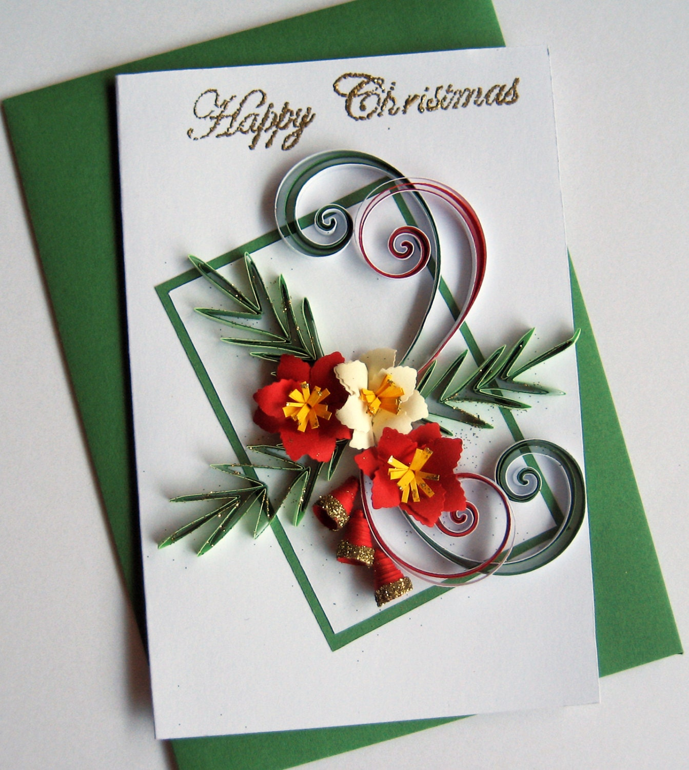 how to make handmade quilled greeting cards