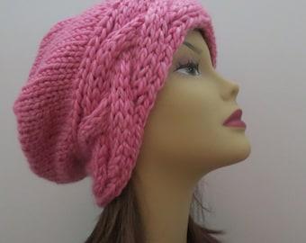 PDF 162  Knitting Hat Pattern, The Roxy Slouch Hat, Slouchy Hat, Easy Pattern, Knit Hat Pattern