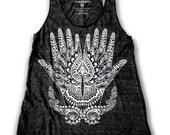 Ethnic Henna Print  Women's Racerback Tank Top