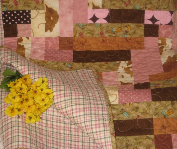 Cowgirl Patchwork Quilt Little Girls Western By