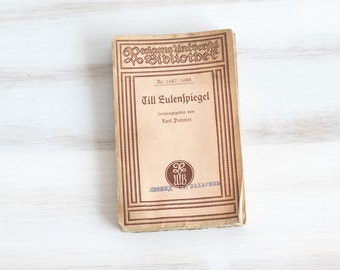 Vintage German Opera program poem book Till Sulenspiegel , ohtteam,