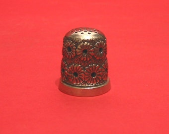 The Daisy Design Thimble Jasmine Fragrance Pewter Collectible Thimble