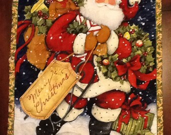 Santa quilted wall hanging