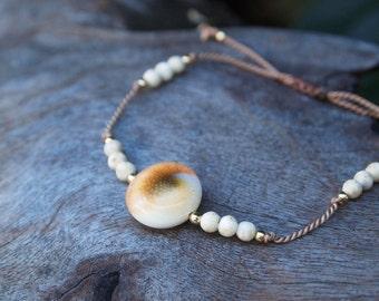 Sea Shell & Gemstone Bracelet