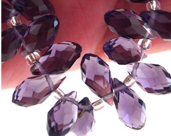 Chinese Crystal Briolette 6X12mm-10 pieces-Purple (MWBRP)