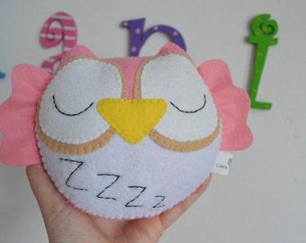 Cute Felt Sleepy Little Owl Toy/Home Decoration