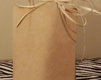 natural farm themed favor bags