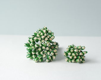 Paper flower , 100 pieces mulberry budding rose, white color.