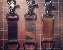 Handmade Leather Key Clip