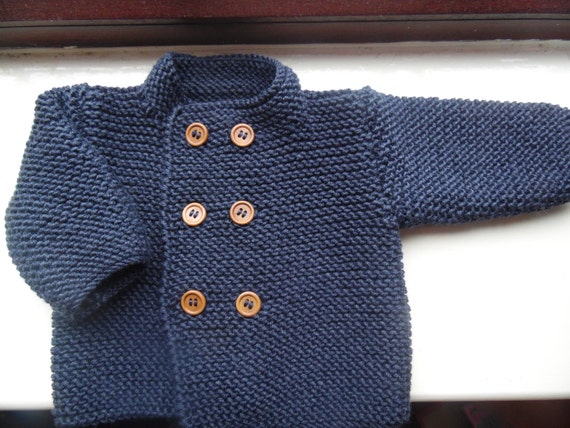 Knitting Jacket For Boy : Hand knitted baby boys jacket