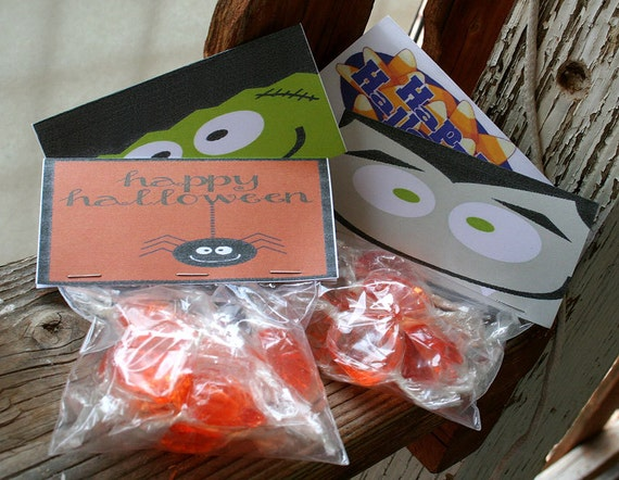 Halloween Wedding Gifts: Halloween Party Favor Candy Bag Set Of 4 Custom And