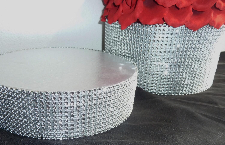 12 14 16 Round Silver Bling Wedding Cake