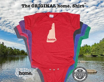 New Hampshire home Baby Bodysuit purple green pink green