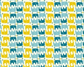 Rebekah Ginda for Birch Fabrics, Ellie Stagger Boy Fabric 1/2 Yard 100% Organic