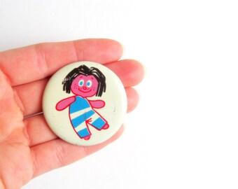 Soviet Vintage Sipsik Pin, Vintage Badge, Soviet Pin Button, Pinback, Metal, Collectible, Retro Brooch, USSR era 1970s