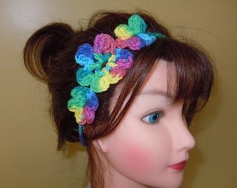 Forehead Headwrap  Boho headband, Yoga Headband with Flower ,   Accessory