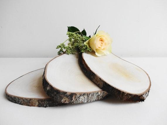 Wood slices slabs rustic wedding decor