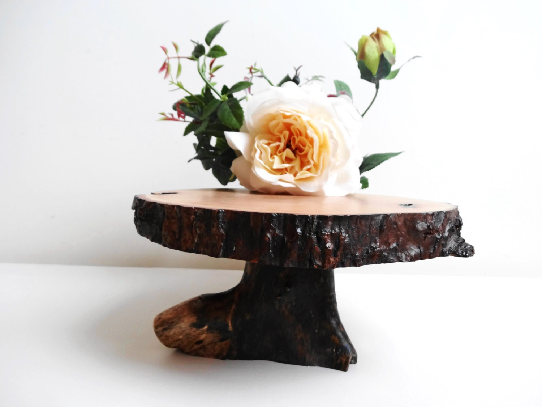 Wood Pedestal Centerpiece : Custom wedding accessories wooden centerpiece