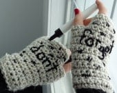 Doctor Who Impossible Astronaut Fingerless Gloves, Halloween Crochet Amy Pond Cosplay Mitts, Doctor Who Gift for All