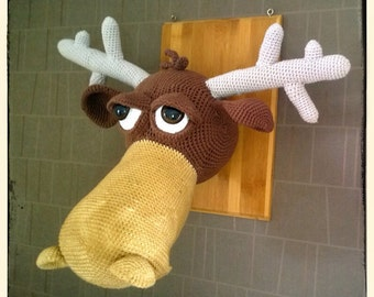 Moose Wall Trophy Crochet Pattern