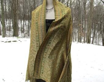 Vintage Paskmina Woven Shawl/Scarf