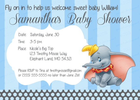 baby shower blue dumbo baby shower by irrelephantdesigns on etsy