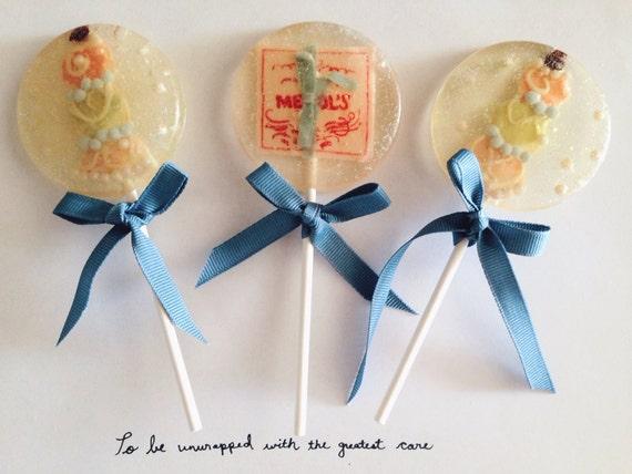3 Grand Budapest Hotel Mendl's Birthday Celebration Party Favors Lollipops