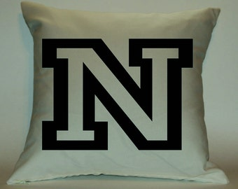 Initial 18X18 Decorative Pillow Cover