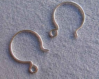 Hoop Hook 925 Ear Wires by Tierra Cast, 1 pair, French Hoop