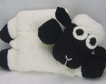 KNITTING PATTERN - Sheep Pyjama Case Knitting Pattern Download From Knitting by post