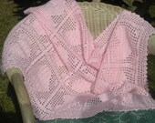 Crochet  Baby Blanket /PATTERN 102/ FILET HEARTS /Pattern Instant Download /  Permission to sell finished items.
