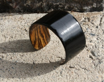Ebony Cuff Bracelet, Wooden Cuff Bracelet, Eco Friendly Jewelry