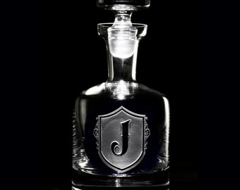 Engraved Whiskey, Scotch Decanter for Whisky or Bourbon, Groomsmen Gift Idea (M22)