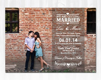 Photo Wedding Invitation DIY PRINTABLE Digital File or Print (extra) Printable Wedding Invitation Photo Wedding Invite DIY Wedding