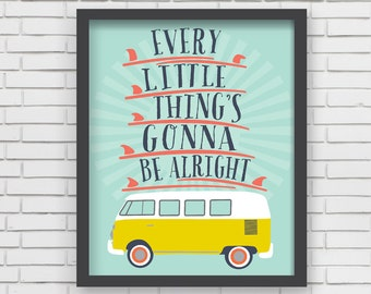 Surfing Home Decor Surfboard Nursery Wall Art - Every Little Thing Art Print - 8x10 or 11x14