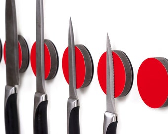 Knife Holder - Magnetic Knife Disc a wall mounted Knife Rack
