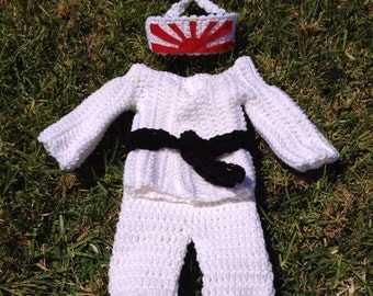 baby karate outfit, baby judo outfit, baby taekwondo outfit, baby martial arts outfit