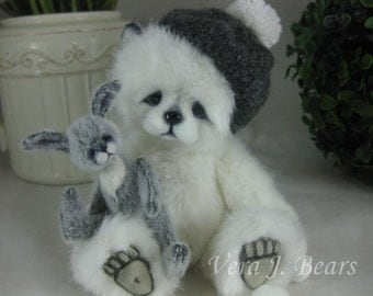 "SOLD 5.5"" Artist Bear Snowdrop  Handmade by Vera J.Bears"