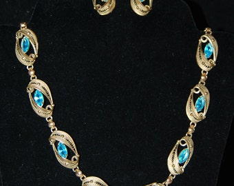 signed alice caviness necklace and earring set